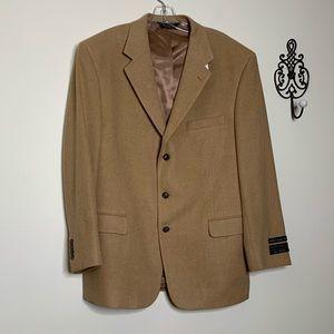 Jos A Bank 100% Camel Hair Sportcoat Sz 44R